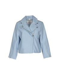 Cheap Monday Coats And Jackets Jackets Women Sky Blue