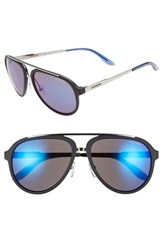 Men's Carrera Eyewear 58Mm Aviator Sunglasses Dark Blue Blue Mirror