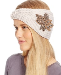 David And Young Flower Applique Headwrap Natural