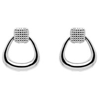 Monet Texture Knocker Stud Earrings Silver
