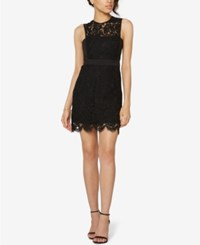 Fame And Partners Two Piece Lace Mini Dress Black