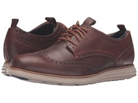 Cole Haan Original Grand Neoprene Lined Wing Oxford Harvest Brown Cobblestone Knit Cobblestone Men's Lace Up Casual Shoes