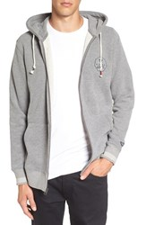 Vissla Men's 'Hurricanes' Fleece Zip Hoodie Grey Heather