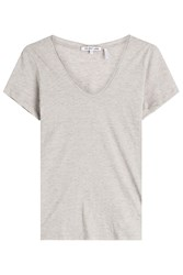 Helmut Lang Cotton T Shirt With Cashmere Grey