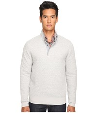Jack Spade Quilted Mock Neck Snap Pullover Light Grey Men's Sweater Gray