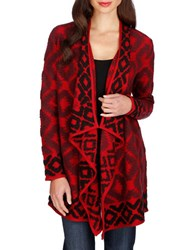 Lucky Brand Open Front Jacket Red