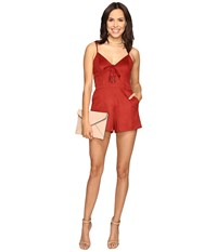 Lovers Friends Lynn Romper Burgundy Women's Jumpsuit And Rompers One Piece
