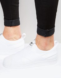 Adidas Originals Superstar Slip On Trainers S81338 White