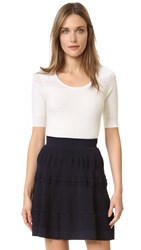 Carven Short Sleeve Top White