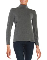 Calvin Klein Turtleneck Knit Top Heather Charcoal