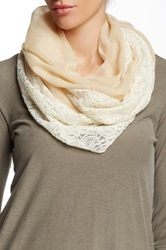 14Th And Union Paisley Lace Infinity Scarf White
