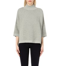 French Connection Mozart High Neck Cotton Jumper Grey