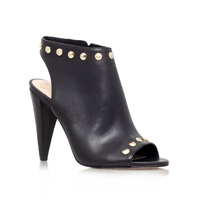 Vince Camuto Abbia High Heel Peep Toe Ankle Boots Black