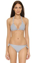 Mikoh St John Triangle Bikini Top Vintage Sailor Night