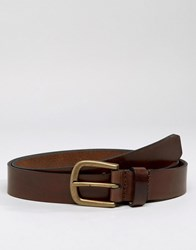Royal Republiq Limit Leather Belt In Brown Brown