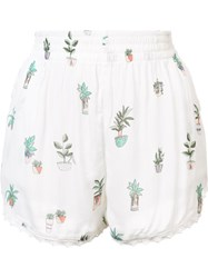 Obey Smocked Waist Shorts White