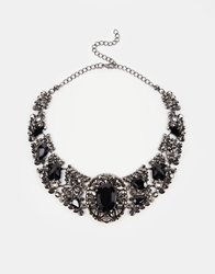 Paper Dolls Structured Love Me Collar Necklace Black