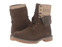 Timberland Authentics Double Fold Down Boot Olive Nubuck Women's Lace Up Boots