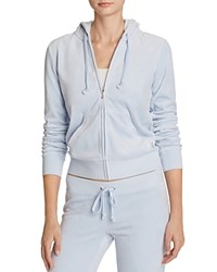 Juicy Couture Sport Black Label Robertson Velour Zip Hoodie In Icy Blue 100 Bloomingdale's Exclusive