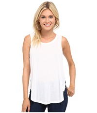 Hurley Solid Drapey Biker Tank Top White Women's Sleeveless