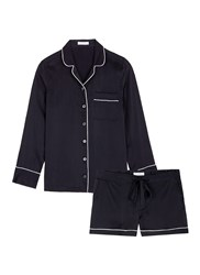 Equipment 'Lillian' Silk Pyjama Set Black