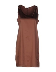 Aglini Short Dresses Brown