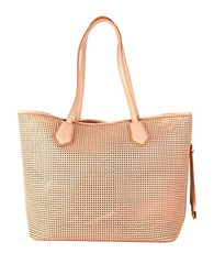 Cole Haan Abbot Perforated Leather Tote Toasted Almond