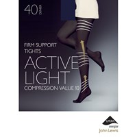 John Lewis 40 Denier Firm Support Active Light Opaque Tights Navy