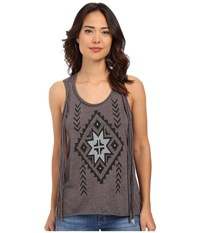 Roper 0227 Heather Jersey Tank Top Grey Women's Sleeveless Gray