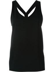 P.A.R.O.S.H. Open Back With Twisted Strap Detail Top Black