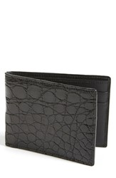 Men's Boconi Crocodile Slimfold Wallet