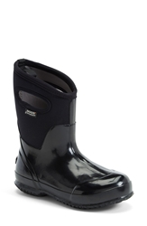 Bogs 'Classic' Mid High Waterproof Snow Boot With Cutout Handles Women Shiny Black