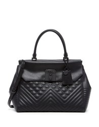 Guess Rebel Roma Quilted Satchel Black