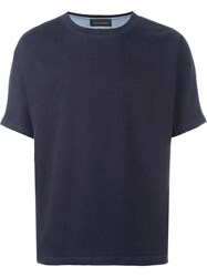 Diesel Black Gold 'Taster Gasset' Trim Detail T Shirt Blue