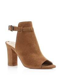 Via Spiga Fabrizie Open Toe High Heel Booties Rattan