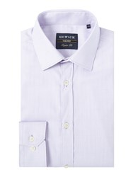 Howick State Herringbone Shirt Purple