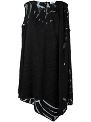 Vionnet Semi Sheer Mini Dress Black