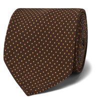Rubinacci 8Cm Polka Dot Silk Tie Purple