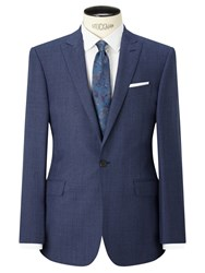 Richard James Mayfair Prince Of Wales Check Slim Fit Suit Jacket Blue
