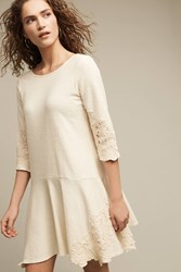 Anthropologie Tierra Dropwaist Dress Neutral