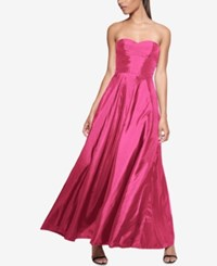 Fame And Partners Strapless Maxi Dress Hot Pink