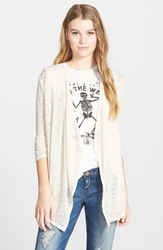 Volcom 'Go Go Go' Open Cardigan Cream