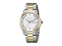 Gucci G Timeless 38Mm Silver Dial Bracelet Stainless Steel Yellow Pvd Watches