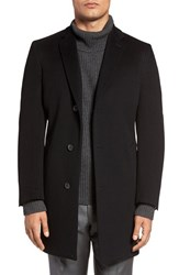John W. Nordstromr Men's Big And Tall Nordstrom Clifton Cashmere Overcoat Black