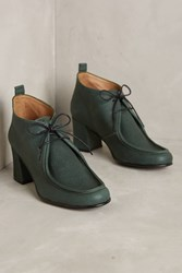 Anthropologie About Arianne Manila Lace Up Booties Green
