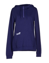 Neff Sweatshirts Purple