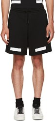 Off White Black Brushed Diagonals Shorts