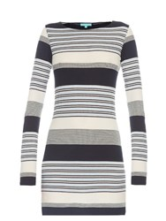 Melissa Odabash Maddie Stripe Knit Mini Dress Blue Multi