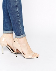 Blink Cut Out Peep Toe Heeled Shoes Nudepatent