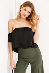 Lucca Couture Silky Off The Shoulder Blouse Black